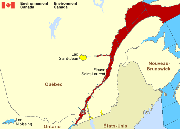 Alertes maritimes pour le Fleuve Saint-Laurent : Source : Environnement Canada