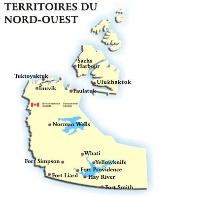 Carte Canada Nord Ouest.Territoires Du Nord Ouest Previsions Et Conditions Par